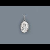 Святая Галина в овальном окладе из серебра