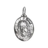 Лик Христа спасителя в овальном окладе, серебро