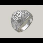 Кольцо мужское с мусульманской молитвой, серебро