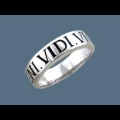 Кольцо с надписью Veni.Vidi.Vici-Пришел.Увидел.Победил, серебро