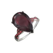 Кольцо с изумрудом и нанокристаллом из серебра
