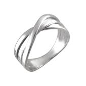 Кольцо Тринити спаенное, серебро