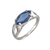Кольцо с сапфиром, серебро