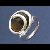 Кольцо с кварцем (розовым кварцем), серебро