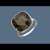 Кольцо с горным хрусталем, серебро