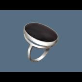 Кольцо с агатом (сердоликом, тигровым глазом) из серебра