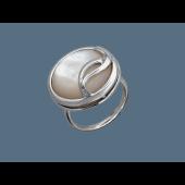 Кольцо с перламутром (лазуритом) из серебра