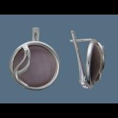 Серьги с агатом и улекситом, серебро