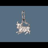 Кулон знак зодиака Телец, серебро