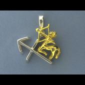 Кулон знак зодиака Стрелец, серебро