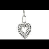 Подвеска Сердце с фианитами, серебро