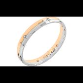 Кольцо с 6 бриллиантами, красное и белое золото