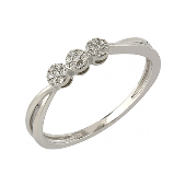 Кольцо Малинки с бриллиантами, белое золото