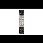 Подвеска Дорожка с чёрными и белыми бриллиантами, белое золото