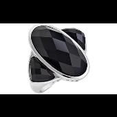 Кольцо с овальным агатом, серебро