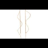 Серьги-продевки Волна из красного золота 585 пробы