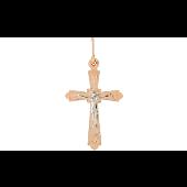 Крест православный, красное золото