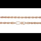 Цепь Веревка (кордовая), красное золото