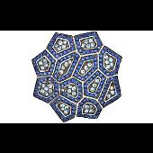 Подвеска Калейдоскоп с синими и голубыми фианитами, серебро