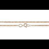 Цепь панцерное плетение, красное золото 585 проба