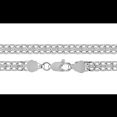 Цепь Бисмарк родированная, серебро