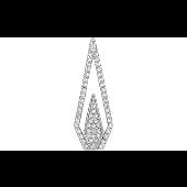 Подвеска Треугольник с фианитами, серебро