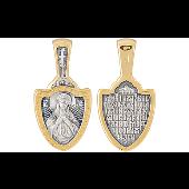 Семистрельная Икона Божьей Матери в мечевидном окладе, серебро с золотым покрытием
