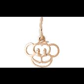 Подвеска Обезьяна-символ 2016 года, красное золото
