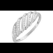 Кольцо с бриллиантами, белое золото