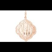 Подвеска Мечеть из красного золота 585 пробы