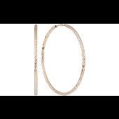 Серьги конго с алмазными гранями, красное золото 33 мм