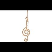 Кулон Скрипичный Ключ из красного золота
