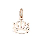 Кулон Корона из красного золота