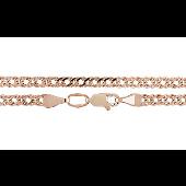 Цепь Ромб двойной из красного золота 585 проба
