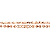 Цепь Веревка из красного золота 585 пробы