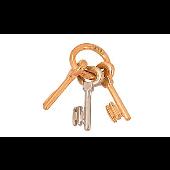 Подвеска три ключика, связка ключей, красное золото