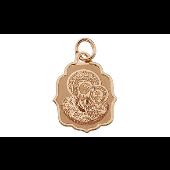 Казанская Икона Божьей Матери в фигурном окладе, красное золото