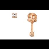 Пуссеты-гвоздики с бриллиантами, красное золото