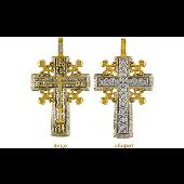 Православный крест Голгофский, серебро