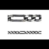 Цепь Фигаро 4+1 черненый, серебро