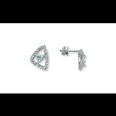 Пусеты с фианитами TED LAPIDUS, серебро