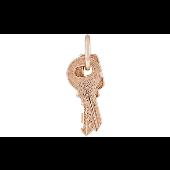 Подвеска Два Ключа, связка ключей, красное золото