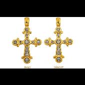 Крест с монограммой Христа, серебро с золотым покрытием