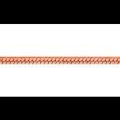 Цепь Снейк (Шнурок), красное золото 1мм