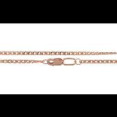 Цепь Ромб из красного золото 585 пробы