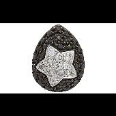 Кулон Звезда с чёрными и прозрачными фианитами, серебро