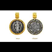 Икона Ангел Хранитель, серебро с золотым покрытием