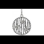 Подвеска Бабочки с фианитами, серебро