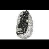 Подвеска Ящерица с чёрными и прозрачными фианитами, имитация рубина, серебро