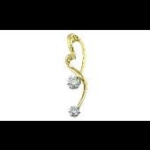 Подвеска Сердце с бриллиантами, желтое золото